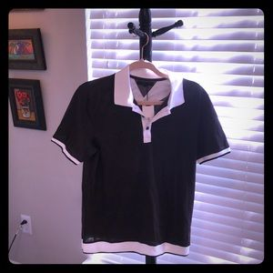 Jasper brown and white polo style shirt